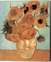 Framed Vase with Twelve Sunflowers, c.1888