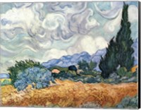 Framed Wheat Field with Cypresses, c.1889