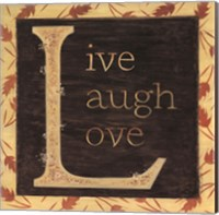 Framed Live Laugh Love - Border