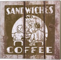 Framed Sandwich and Coffee