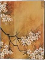 Framed Oriental Blossoms II
