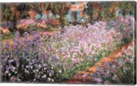 Framed Artist's Garden at Giverny, c.1900