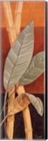 Framed Bali Leaves I