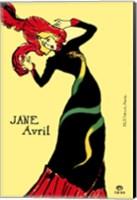 Framed Jane Avril