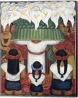Framed Flower Festival: Feast of Santa Anita, 1931