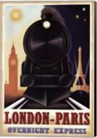Framed London-Paris Overnight Express