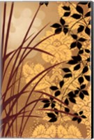 Framed Golden Flourish I