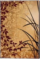 Framed Golden Flourish II