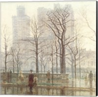 Framed Rainy Day in the City
