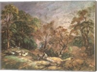Framed Landscape With Resting Men