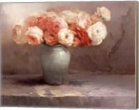 Framed Les Fleurs Romantiques