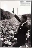 Framed King: I Have a Dream
