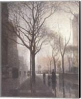 Framed Plaza After The Rain