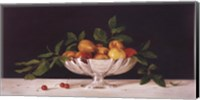 Framed Fruit In An Oval Of Silver