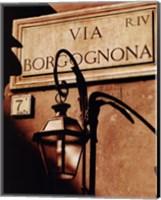 Framed Via Borgognona