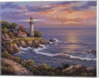 Framed Sunset At Lighthouse Point