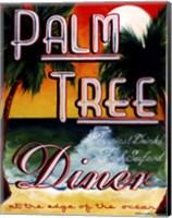 Framed Palm Tree Diner