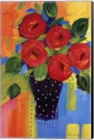 Framed Spring Blooms In Blue Vase II