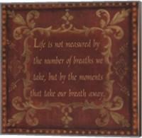 Framed Life Is Not Measured