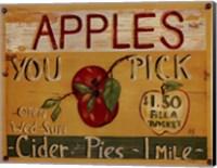 Framed Fruit Stand IV