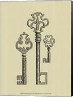 Framed Antique Keys II