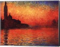 Framed San Giorgio Maggiore at Twilight (Dusk in Venice), c.1908