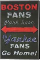 Framed Yankee Fans Go Home