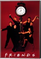 Framed Friends (TV) Clock Red