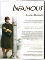Framed Infamous Sandra Bullock