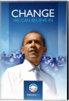 Framed Barack Obama  - (First) Campaign Poster