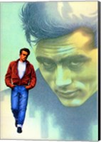 Framed Rebel Without a Cause Jame Dean Graphic