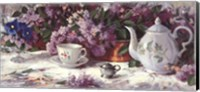 Framed Teapot and Lilacs