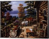 Framed Log Cabin Porch