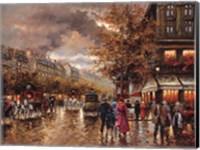 Framed Vintage Street Scene