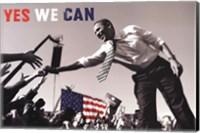 Framed Barack Obama:  Yes We Can (crowd)