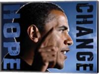 Framed Barack Obama: Hope, Change
