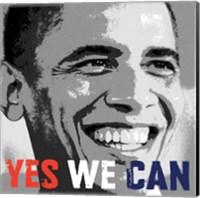 Framed Barack Obama:  Yes We Can