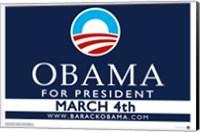 Framed Barack Obama - (March 4) Campaign Poster