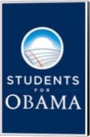 Framed Barack Obama - (Students for Obama) Campaign Poster