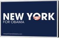 Framed Barack Obama - (New York for Obama) Campaign Poster