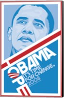 Framed Barack Obama - (Hope, Blue) Campaign Poster