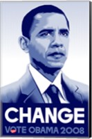 Framed Barack Obama - (Change) Campaign Poster
