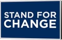 Framed Barack Obama - (Stand for Change) Campaign Poster
