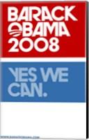 Framed Barack Obama - (Yes We Can Logo) Campaign Poster