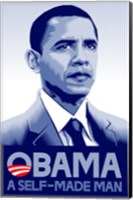 Framed Barack Obama - (A Self Made Man) Campaign Poster