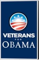 Framed Barack Obama - (Veterans for Obama) Campaign Poster