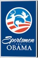 Framed Barack Obama - (Sportsmen for Obama) Campaign Poster