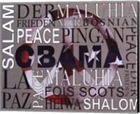 Framed Obama - Peace