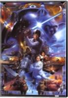 Framed Star Wars Saga - Collage