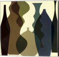Framed Floating Vases III